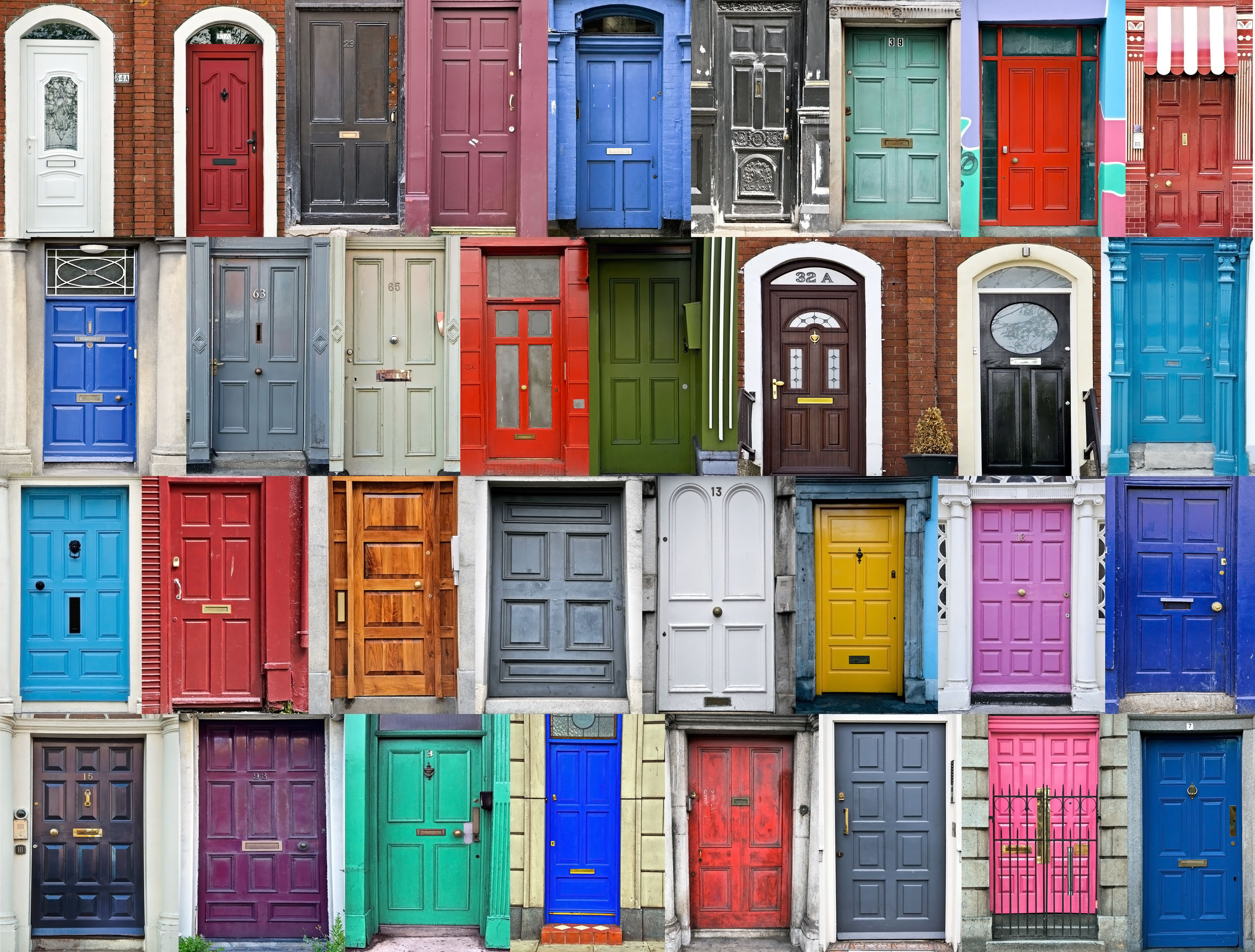 43715354 - doors of dublin, ireland