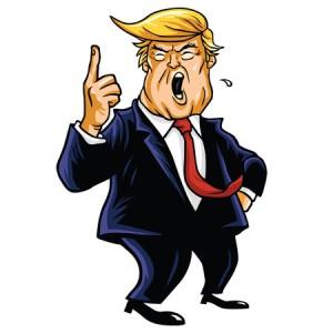 59853293 - donald trump shouting, you're fired! cartoon caricature
